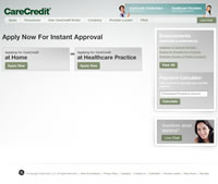 *Click here to access the Care Credit web site and apply